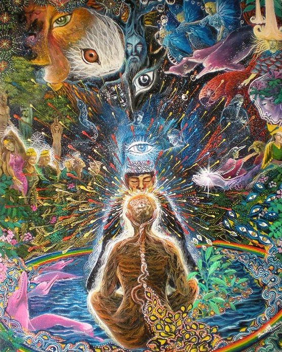Ayahuasca Artwork featuring shamanic healing