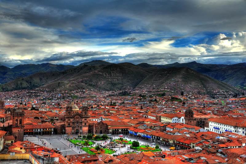 View of Cusco City Plaza de Armas