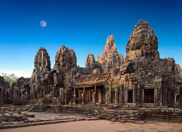 Temple Ruined Bayon, Angkor, Cambodia
