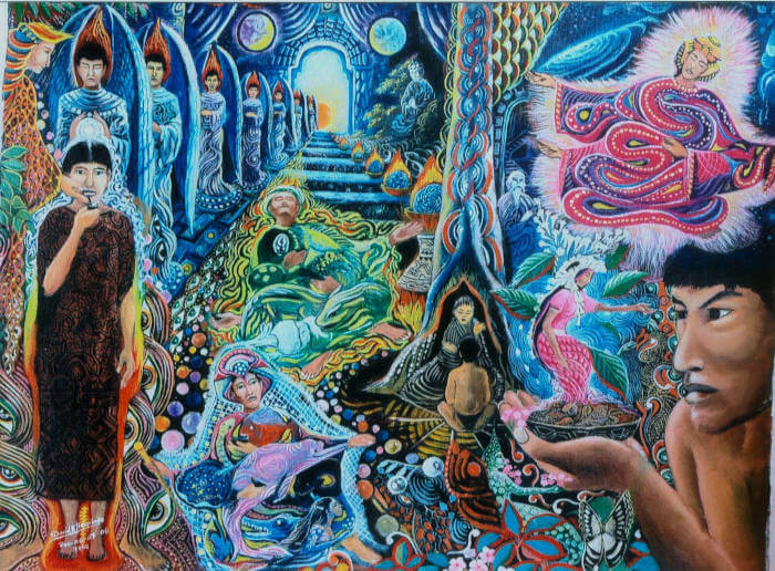 ayahuasca artwork depicting ayahuasca visions
